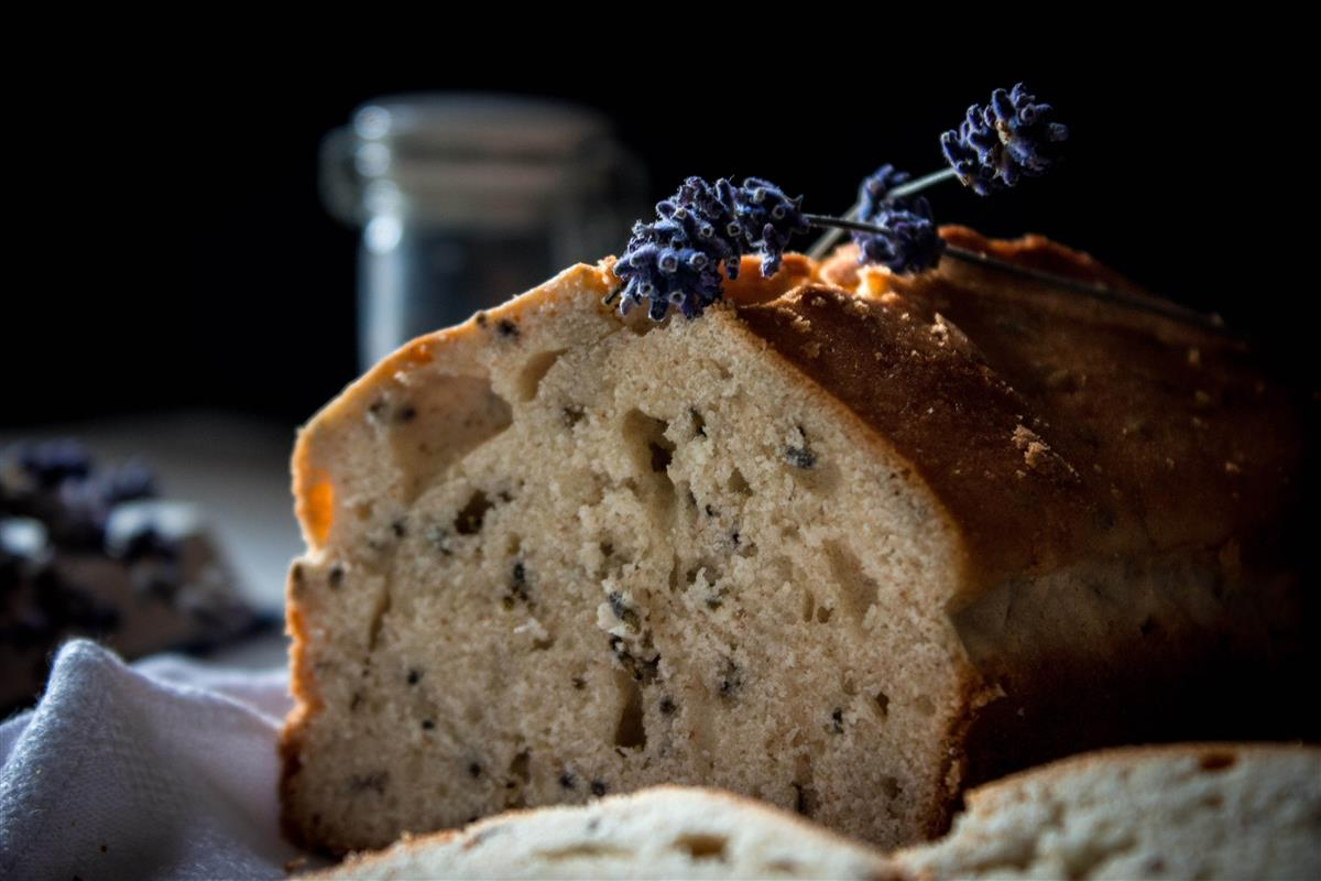 Cut lavender bread
