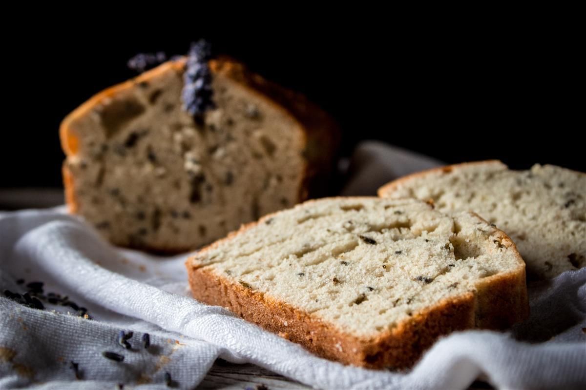 A slice of Lavender bread