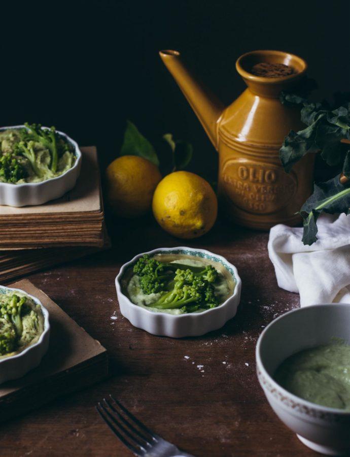 Lemon and broccoli mini-quiches