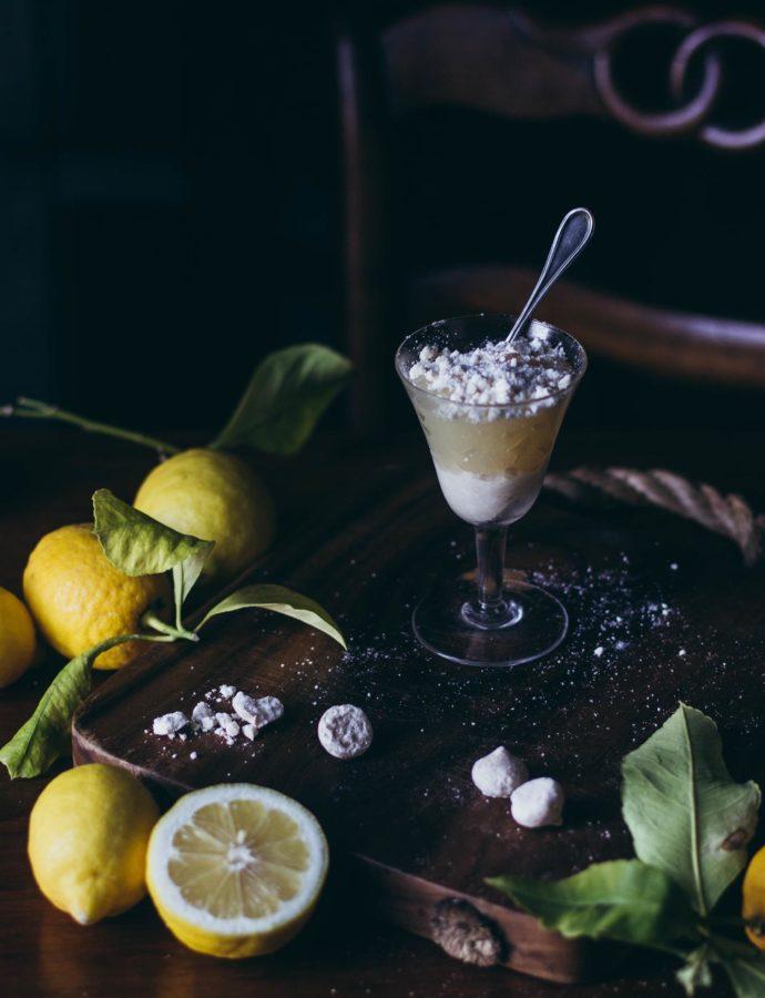 Lemon meringue cups