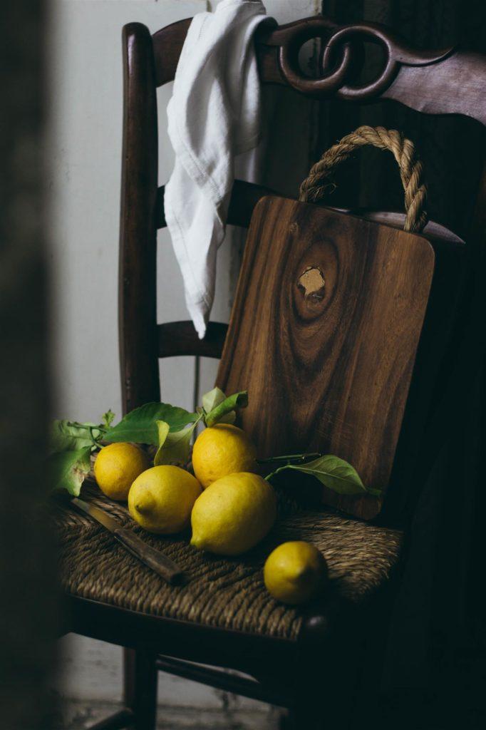 Lemons on a chair